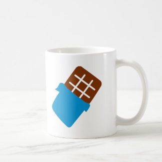 Barre de chocolat tasse