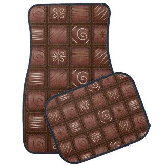 Barre de comprimé de chocolat tapis de voiture