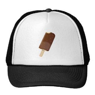 Barre de crème glacée de chocolat casquette de camionneur