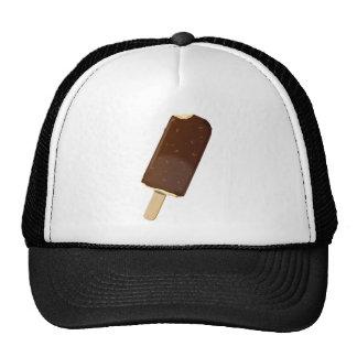 Barre de crème glacée de chocolat casquette