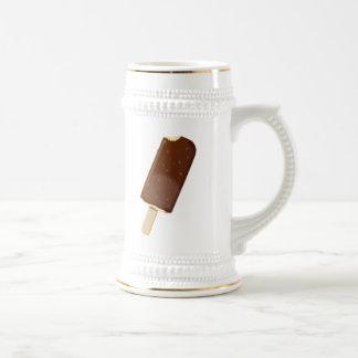 Barre de crème glacée de chocolat tasse