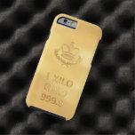 Barre de lingot d'or coque iPhone 6 tough