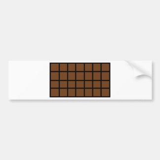 barre d'icône de chocolat autocollant de voiture