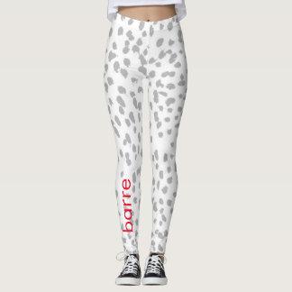 Barre gray leopard leggings