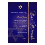Barre Mitzvah/bleu marine/or Carton D'invitation