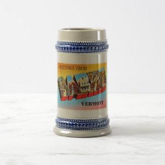 Barre Vermont VT Old Vintage Travel Souvenir Beer Stein