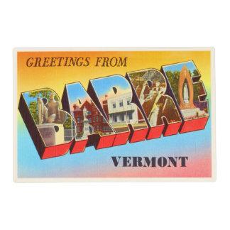 Barre Vermont VT Old Vintage Travel Souvenir Laminated Placemat