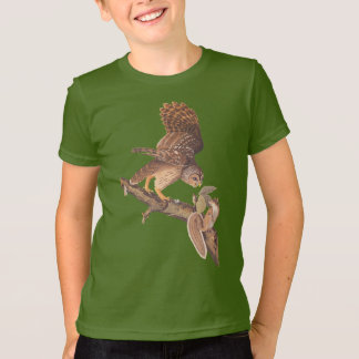 Barred Owl and Squirrel Audubon's Odd Couple T-Shirt