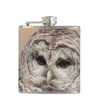 Barred Owl Hip Flask