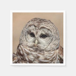 Barred Owl in flight Paper Napkin