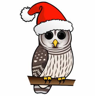 Barred Owl Santa Photo Sculpture Ornament
