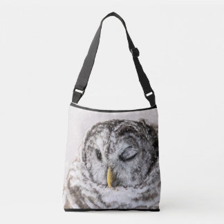 Barred Owl Winking Crossbody Bag
