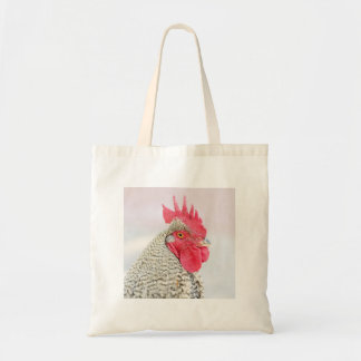 Barred Plymouth Rock Chicken Tote Bag