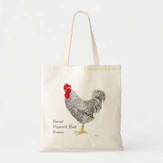 Barred PLymouth Rock Rooster Bag