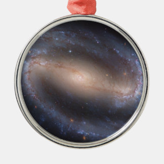 Barred Spiral Galaxy NGC 1300 Silver-Colored Round Ornament