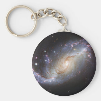 Barred Spiral Galaxy NGC 1672 Constellation Dorado Keychain