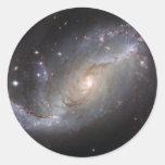 Barred Spiral Galaxy NGC 1672 Round Sticker