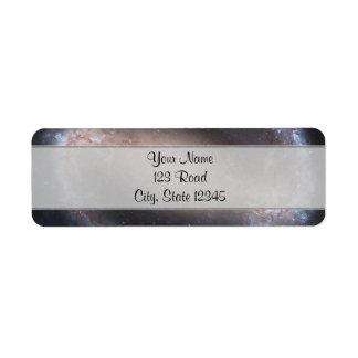 Barred Spiral Galaxy Return Address Label