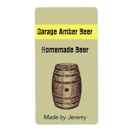 Barrel Beer Label