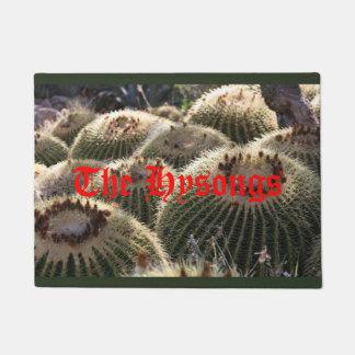 Barrel Cacti in the Sun door mat