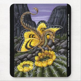 Barrel Cactus Dragon Fly Mousepad