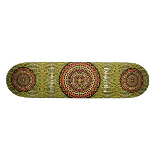 Barrel Cactus Mandala 2 with Green Thorn Pattern Skateboard Deck