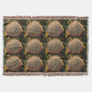 Barrel Cactus Throw Blanket