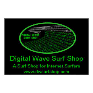 Barrel Digital Wave Right Perspective Poster