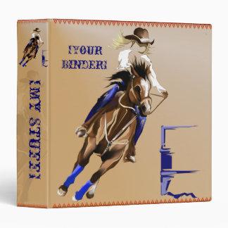 Barrel Horse binder_15_back.v4. Vinyl Binder