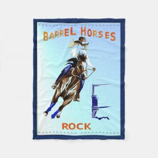 BARREL HORSES ROCK FLEECE BLANKET