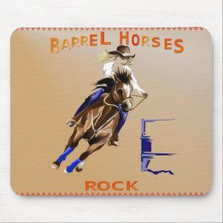 Barrel Horses Rock_Mousepad Mouse Pad