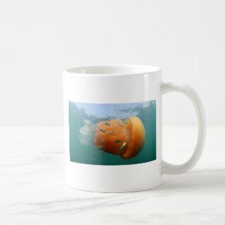 Barrel Jellyfish Swims With Mackerel Coffee Mug