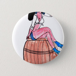 Barrel of Beer 2 Inch Round Button