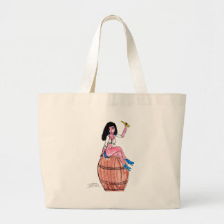 Barrel of Beer Large Tote Bag