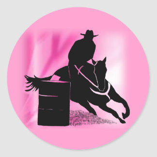 Barrel Racer 202 Classic Round Sticker