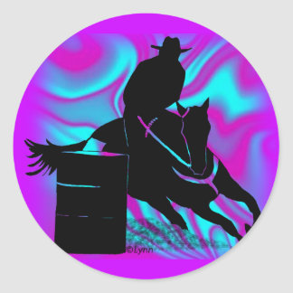 Barrel Racer 203 Classic Round Sticker
