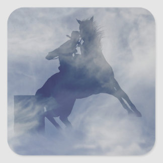 Barrel Racer and Horse Stickers