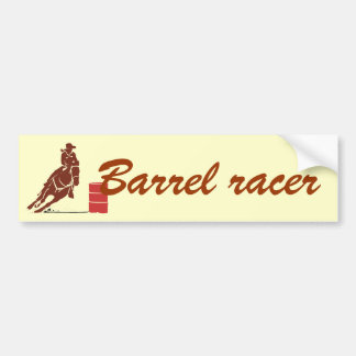 Barrel racer bumper sticker