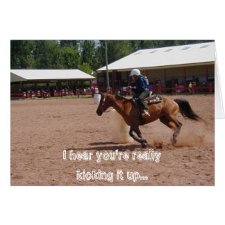 Barrel Racer Card