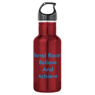 Barrel Racers Believe and Achieve water bottle.