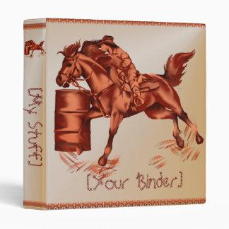 Barrel Racing binder_15_back.v4 Vinyl Binder