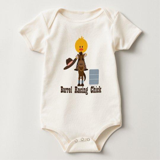 Barrel Racing Chick Organic Baby Bodysuit