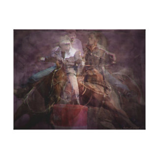 Barrel Racing Competition Canvas Print