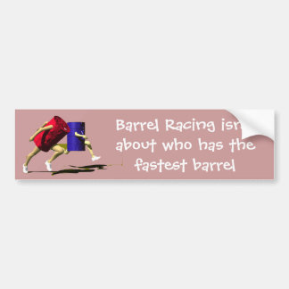 Barrel Racing - Girls - Racing Barrels Bumper Sticker