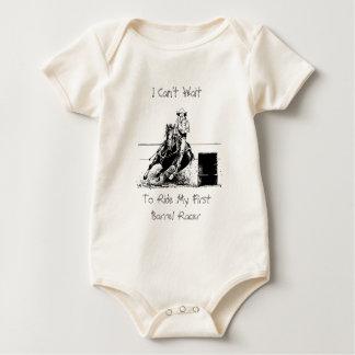 Barrel Racing Horse Baby Bodysuit