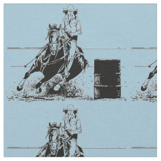 Barrel Racing Horse Fabric