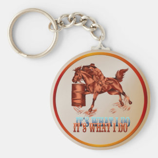 Barrel Racing_It's what I do  -Keychain Keychain