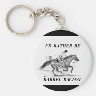 Barrel Racing Key Chain