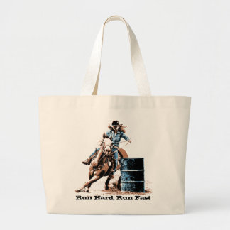 Barrel Racing Large Tote Bag