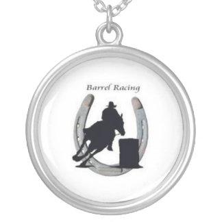 Barrel racing necklace  horseshoe